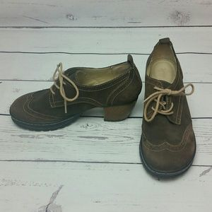Jambu Suede Wingtip Oxford Lace Up Shoes 7.5M